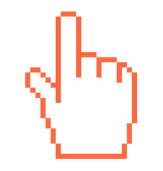 computer cursor hand indicator sign vector image