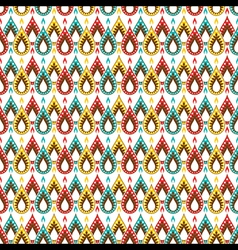 creative colorful festive diya pattern background vector image