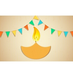 Decorated Diya vector image