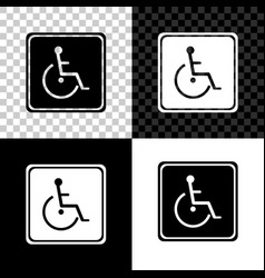 disabled handicap icon isolated on black white vector image