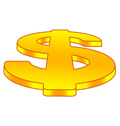 Dollar sign on perspective vector
