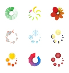 Download page icons set cartoon style vector image
