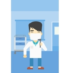 Ear nose throat doctor vector