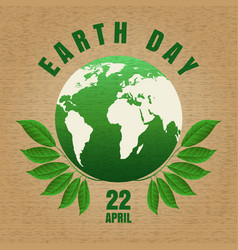 Earth day craft poster vector