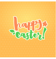 easter greetings typographical greeting card vector image