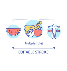 fruitarian diet weight loss concept icon vegan vector image