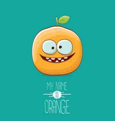 Funny cartoon cute orange character vector