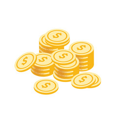 Golden coins stack graphic vector