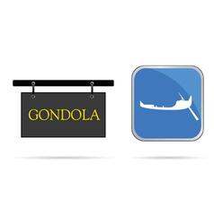 Gondola sign vector