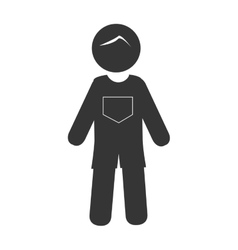 Grandparent isolated flat icon vector image