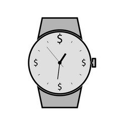 Hand watch flat icon time is the most valuable vector