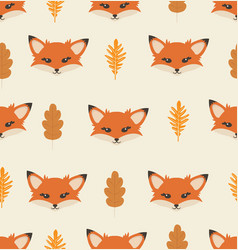 head fox with different elements pattern vector image