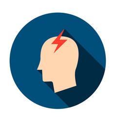 Headache circle icon vector