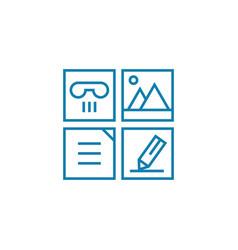 job responsibilities linear icon concept job vector image