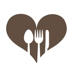 Leafs healthy heart food menu icon vector
