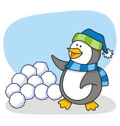 little penguin 4 vector image