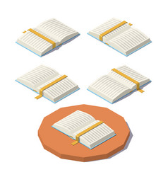 low poly open book vector image