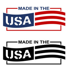 made in usa label vector image