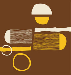 modern abstract art vector image