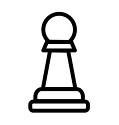 Pawn chess piese icon vector