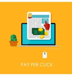 Pay Per Click Flat Concept for Web Marketing vector image