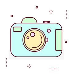 photo digital camera line icon vector image