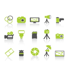 photography element icongreen series vector image
