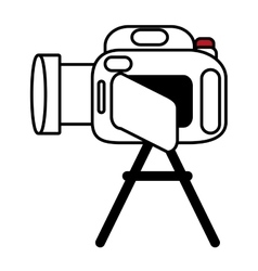 Pictogram camcorder video film tripod design vector