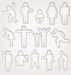 pictograms of men and women vector image