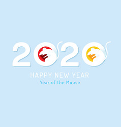 rat on clean background 2020 new year chinese new vector image