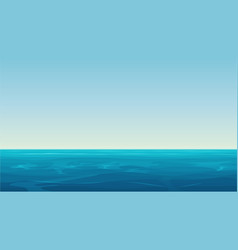 realistic cartoon empty blue ocean vector image