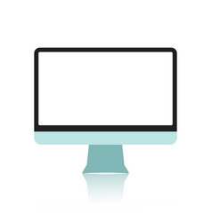 Realistic electronic devices - computer monitors vector