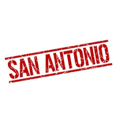 San Antonio red square stamp vector image