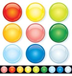 set blank glass badges vector image