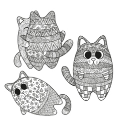 set of boho cats vector image vector image