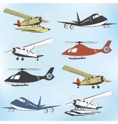 Set of vintage retro aeronautics flight badges vector