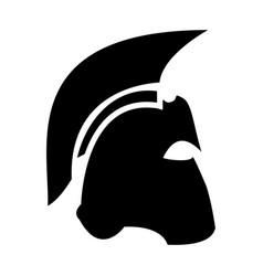 Spartan helmet the black color icon vector