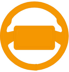 steering car wheel icon isolated on vector image