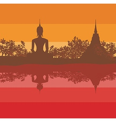 Sukhothai Historical Park Sukhothai Province vector