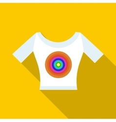 T shirt with a print icon flat style vector image