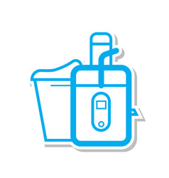 Thin line juicer icon vector