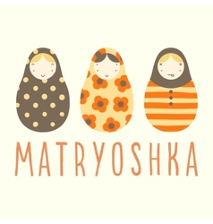 Three matryoshka dolls vector