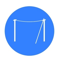 Tightrope icon in black style isolated on white vector