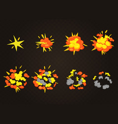 Top view smooth explosion effect bomb vector