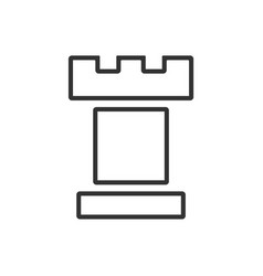 tower line icon on a white background vector image
