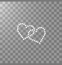 two heart of the lamps on a transparent background vector image
