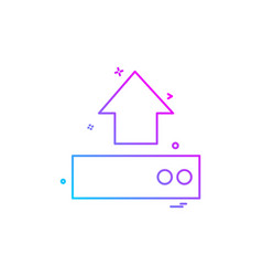 upload drive icon design vector image