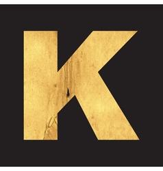 Uppercase letter k english alphabet vector