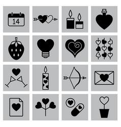 valentine icon set vector image