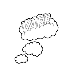 Vape clouds icon outline style vector